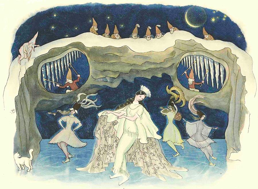 『ふゆのはなし』より《氷のダンス》1924年 小さな絵本美術館蔵