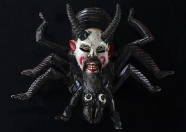 「仮面(クモ)(メキシコ)」国立民族学博物館蔵 撮影:大道雪代