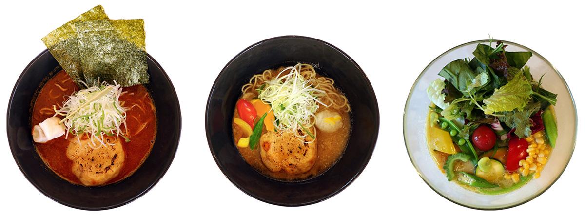 「みつか坊主」では、ビーガンラーメンを5種類提供するほか、グルテンフリー麺も導入