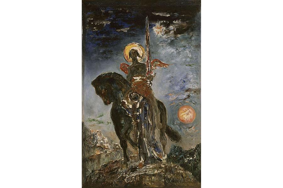 《パルクと死の天使》1890年頃 ギュスターヴ・モロー美術館蔵 Photo©RMN-Grand Palais/Rene-Gabriel Ojeda/distributed by AMF