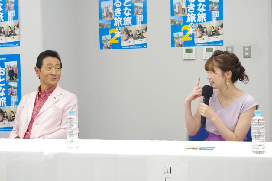 「三田村さんが自由すぎて周りを放って、いろんなところに行ってしまった旅が印象的」と話す山口実香(右)