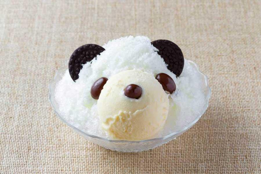 カフェガーデンズで販売される、ミルク味のパンダ580円(税別)