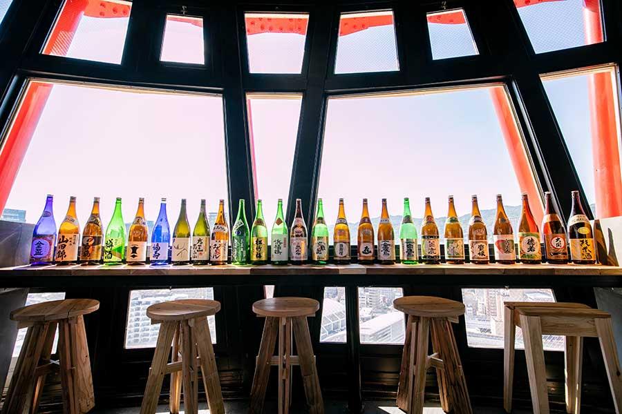 24種の日本酒が飲み放題となる「サケタルビュッフェ」(グラス交換制)