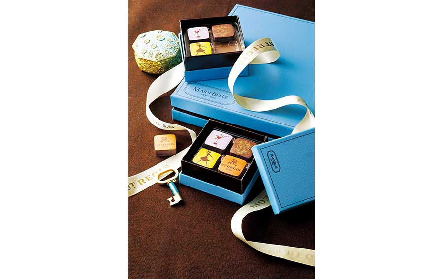 セント レジス ホテル 大阪のカクテル「ショーグン・マリー」のレシピを使ったチョコレートも楽しめるセット4個入り2700円