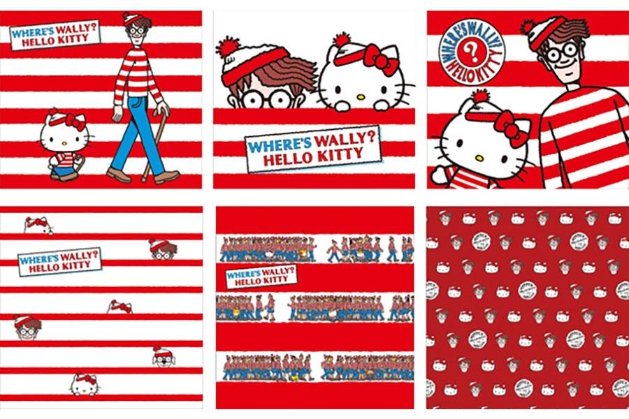 ハローキティと「WHERE'S WALLY? (ウォーリーを探せ!)」のコラボデザイン