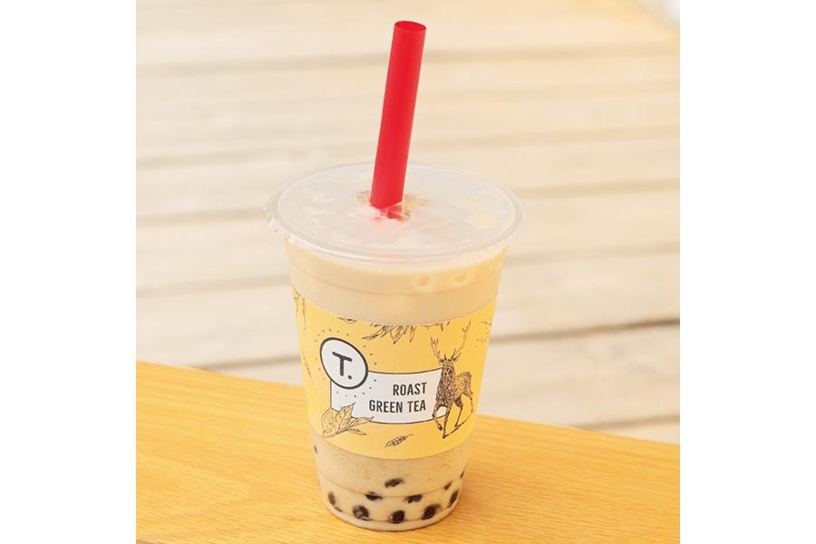 「ほうじ茶タピオカミルクティー」(450円)