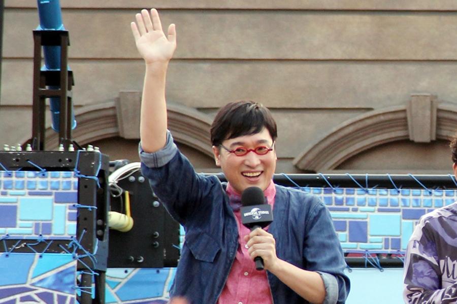 映画『ONE PIECE STAMPEDE』の完成記念イベントに登場した山里亮太(大阪市内・1日)