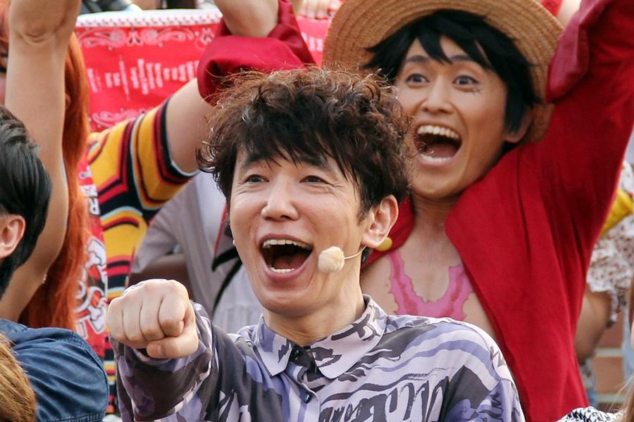 映画『ONE PIECE STAMPEDE』の完成記念イベントに登場したユースケ・サンタマリア(大阪市内・1日)