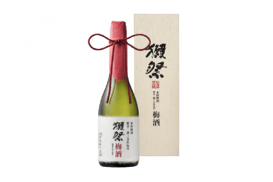 有料試飲のほか、当日購入も可能な「獺祭梅酒」(720ml・12960円)※数量限定