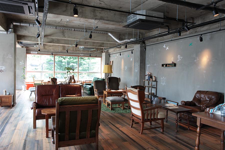 入居するカフェの様子