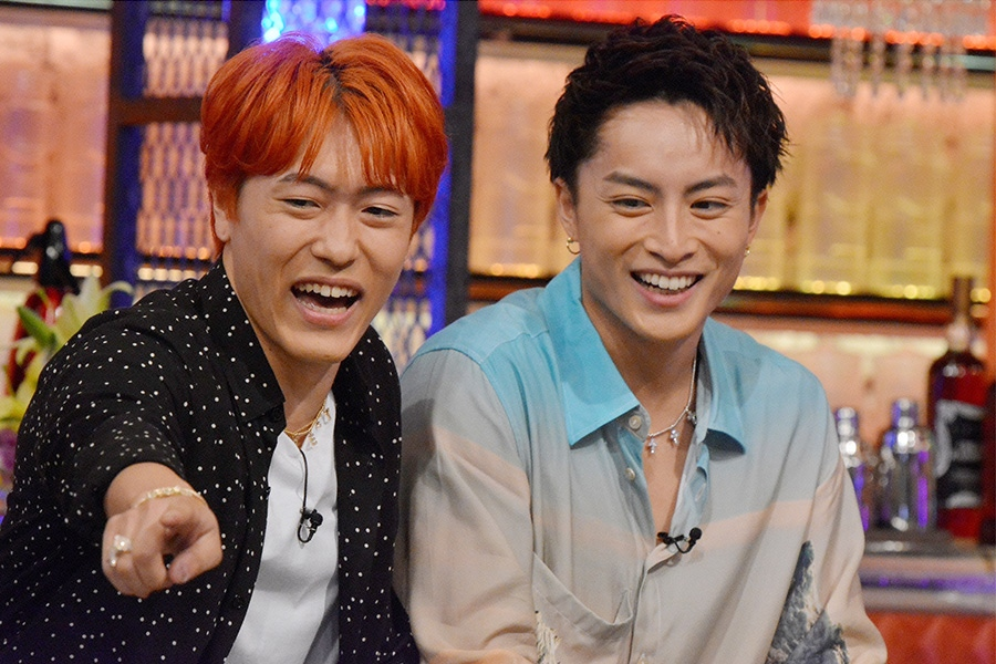8月22日放送『ダウンタウンDX』(読売テレビ)ゲストの中務裕太(左)と白濱亜嵐 © ytv