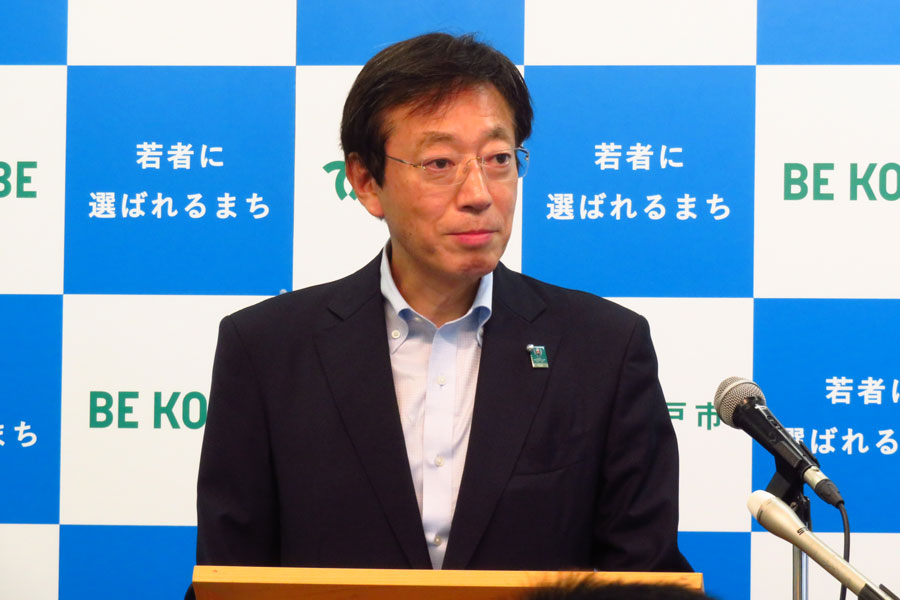「神戸市立博物館」のリニューアルについて語る、神戸・久元市長(8月22日・神戸市役所)