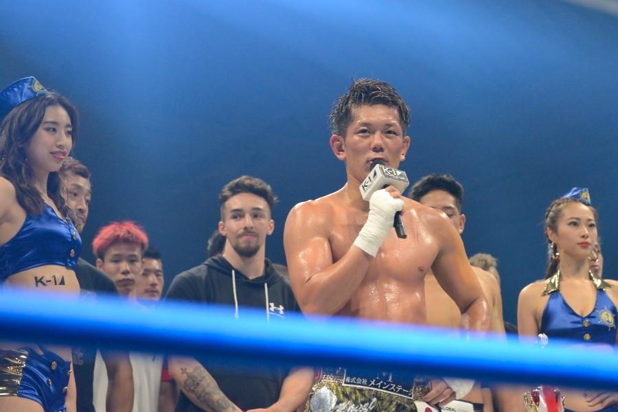 地元・大阪の大会で勝利を飾った皇治(24日・エディオンアリーナ大阪)