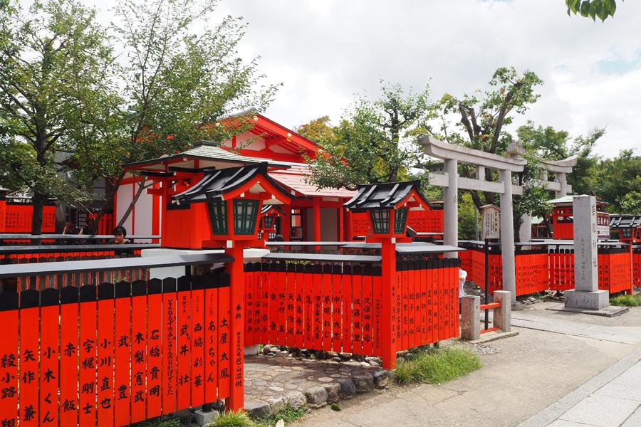 「車折神社」境内になる芸能神社