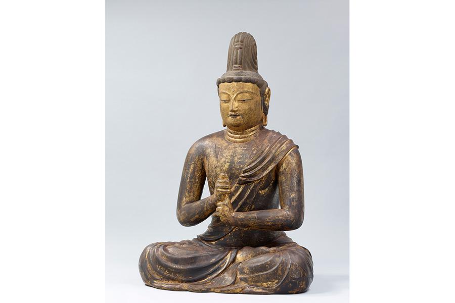 国宝 五智如来坐像のうち大日如来 京都・安祥寺蔵