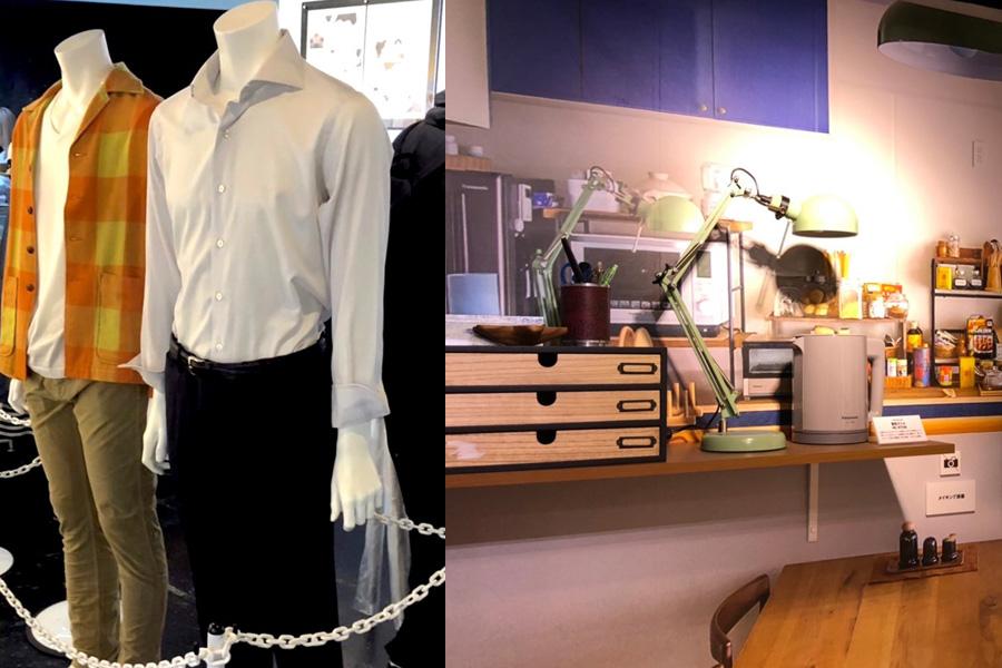 2人の衣装や、リビングを再現した展示もおこなわれる