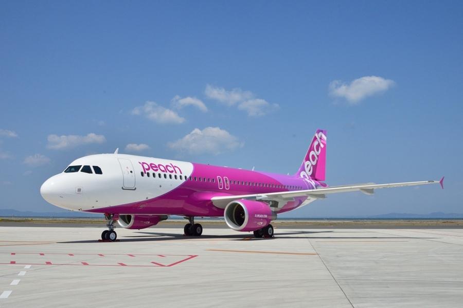 「関西国際空港」(大阪・泉佐野市)を拠点にする格安航空会社(LCC)の「ピーチ・アビエーション」