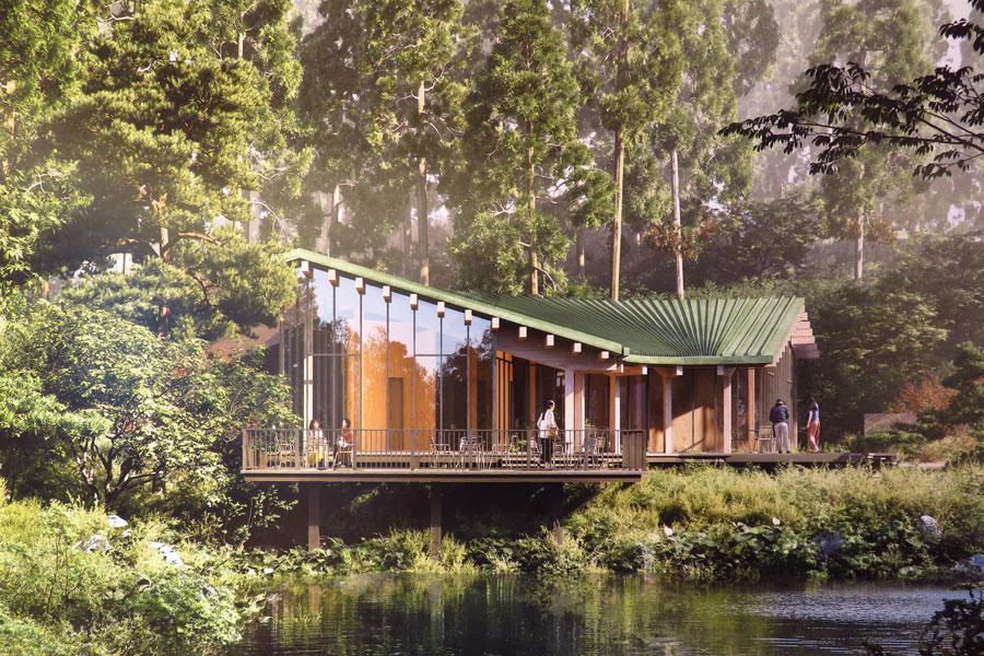 2020年、敷地内の湖のほとりにレイクカフェを開業予定(提供:六甲山サイレンスリゾート)