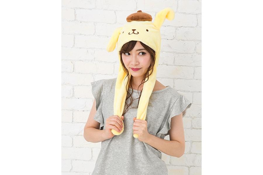 「ポムポムプリン」の耳が動く帽子(2052円)