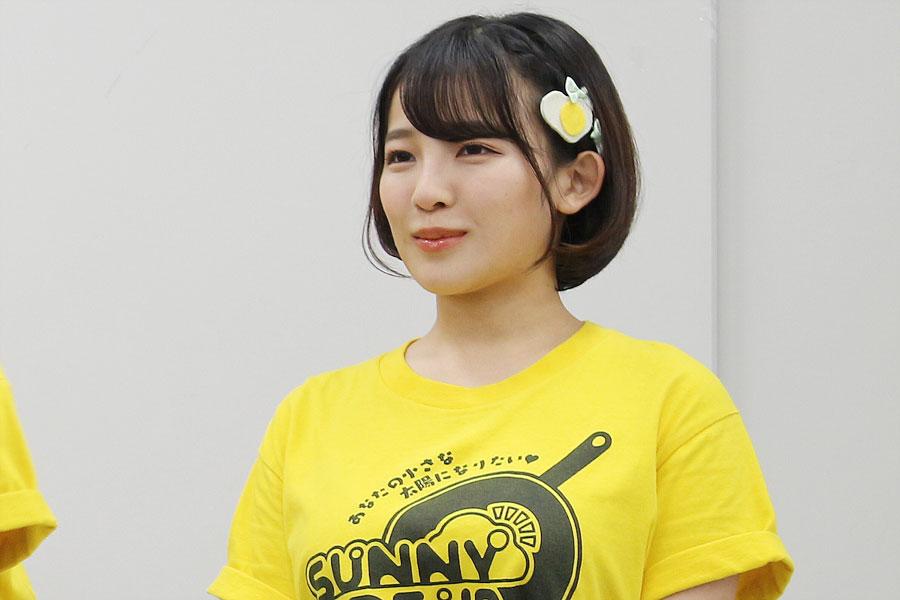 イベントでは弾けるような笑顔を見せていたが、ライブ後の取材会で思わず涙を見せた天木(8月3日・NHK大阪)