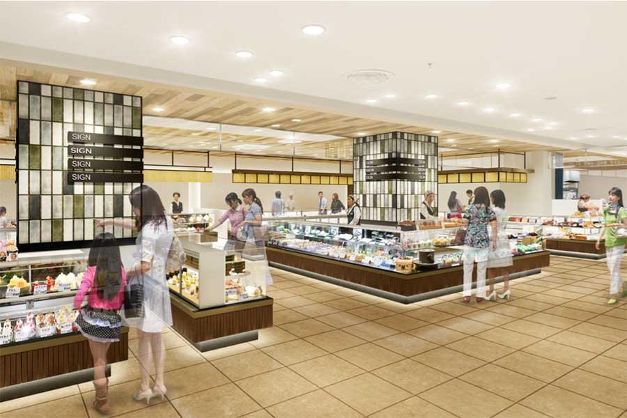 「高槻阪急」の和洋菓子売場のイメージ