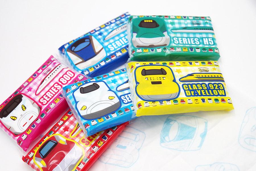 「鉄ッシュ」のパッケージは6種(N700A、923形ドクターイエロー、H5系、E6系、W7系、800系)