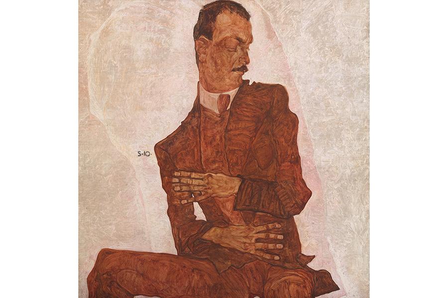 エゴン・シーレ《美術批評家アルトゥール・レスラーの肖像》©Wien Museum / Foto Peter Kainz