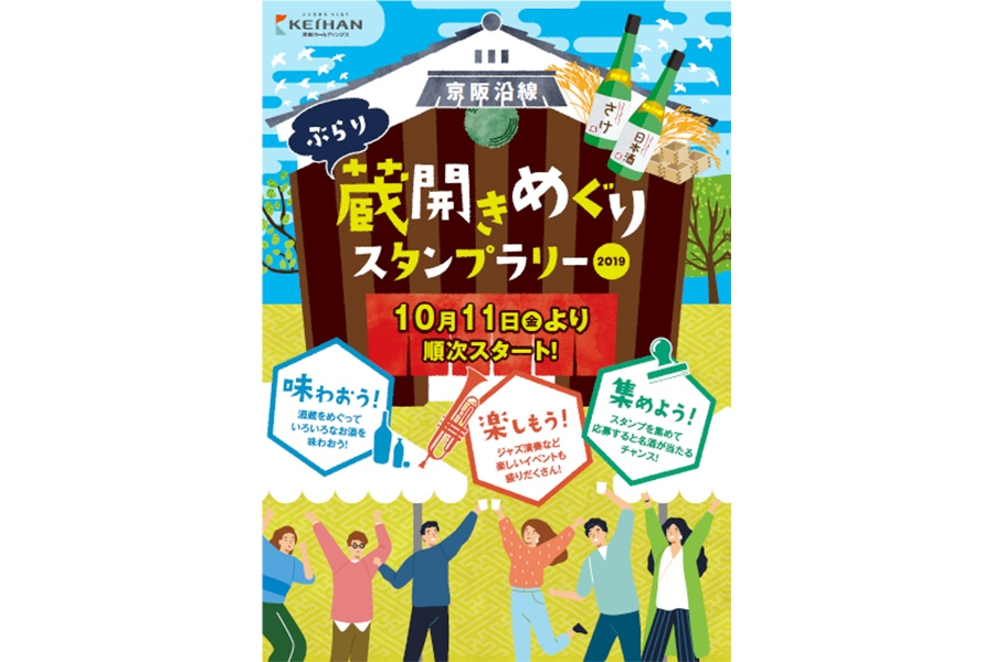 『京阪沿線 ぶらり蔵開きめぐりスタンプラリー2019』ポスタービジュアル