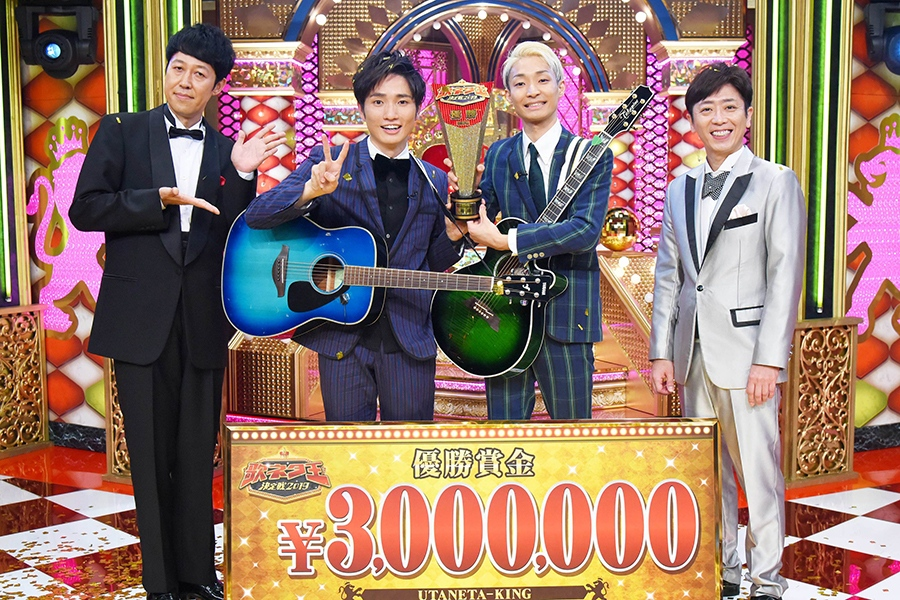 左から、番組MCの小籔千豊、ラニーノーズの洲崎貴郁、山田健人、MCの後藤輝基