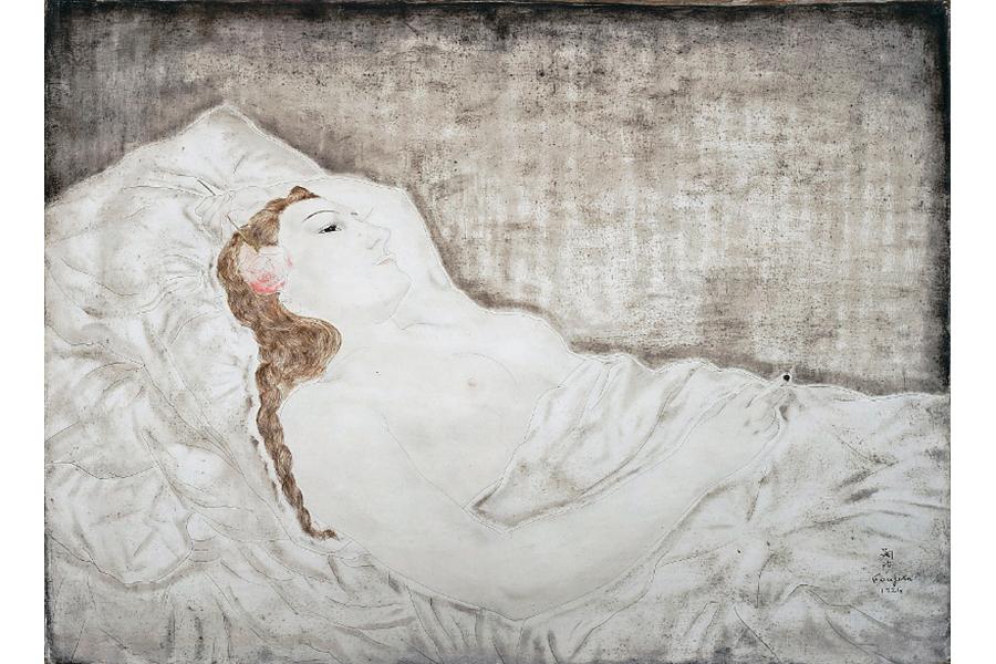 『横たわる裸婦(ユキ)』(1924年)