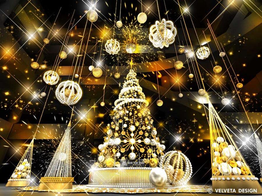 グリーバルコンセプト社が手掛けるクリスマスツリー「Brilliant Tree」イメージビジュアル