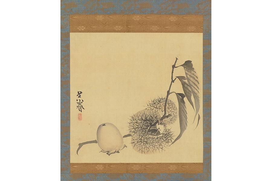 『栗柿図』呉春筆