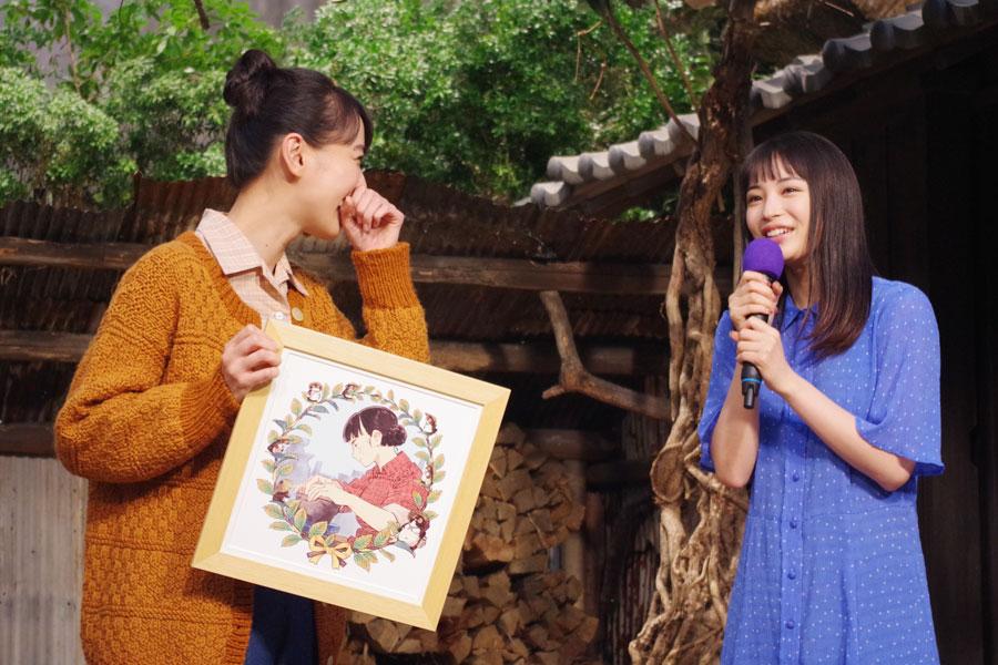「ずっと演じるって難しいと思うので、がんばってください」と戸田恵梨香にエールを送った広瀬すず(9月17日・NHK)