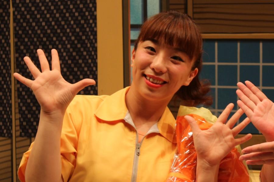 約9カ月ぶりに吉本新喜劇の舞台に復帰した森田まりこ