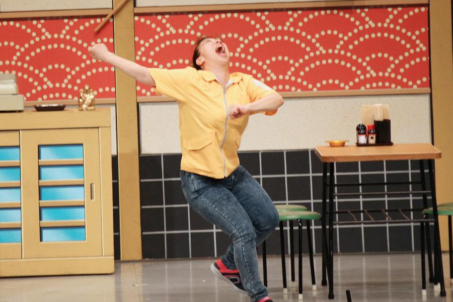 復帰公演にもかかわらず、全力で笑いをとる森田まりこ