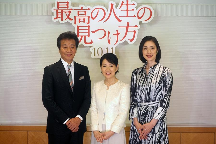 左から、前川清、吉永小百合、天海祐希(30日・大阪市内)