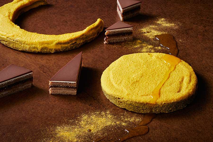 月をイメージしたミルクチョコレートテリーヌ