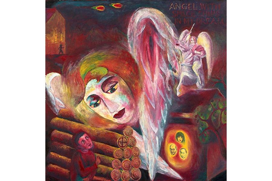 『Angel with Space Ships』1986年頃 横尾忠則現代美術館蔵