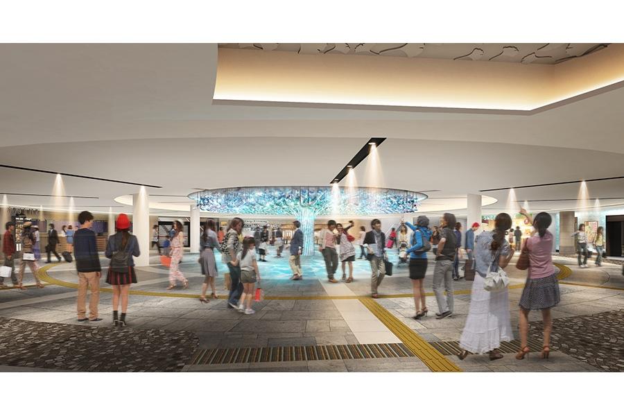リニューアルオープンする「泉の広場」(大阪市北区)のイメージ