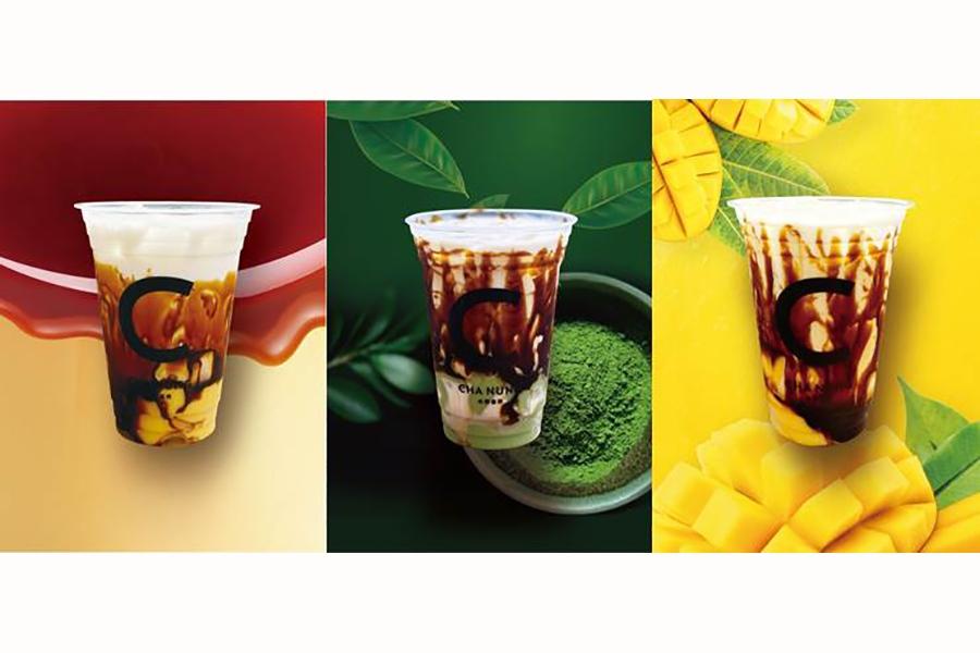 自家製プリンを台湾茶に投入する「プリッチ」シリーズ(600円〜)