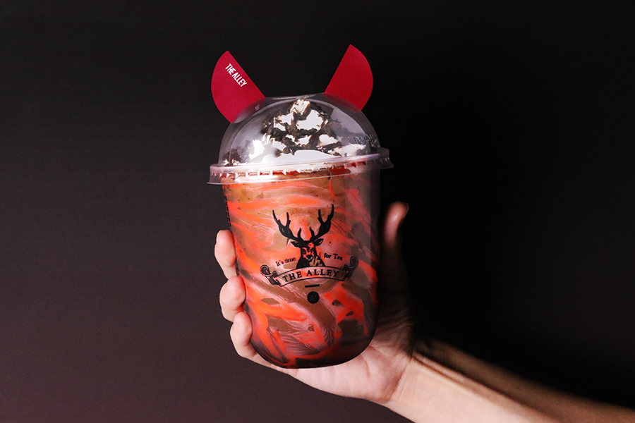 悪魔のミミがついたオリジナルカップ