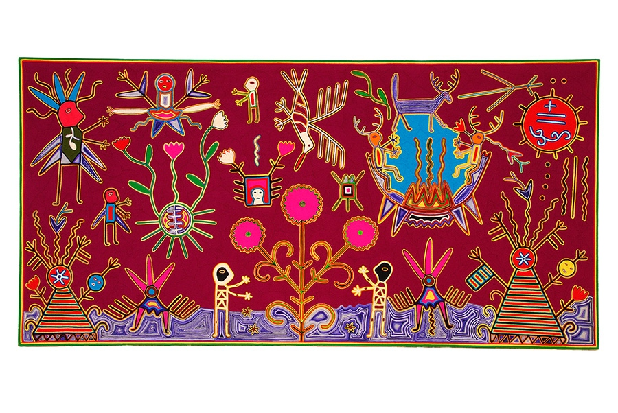 先住民族ウイチョルの毛糸絵 国立民族学博物館蔵