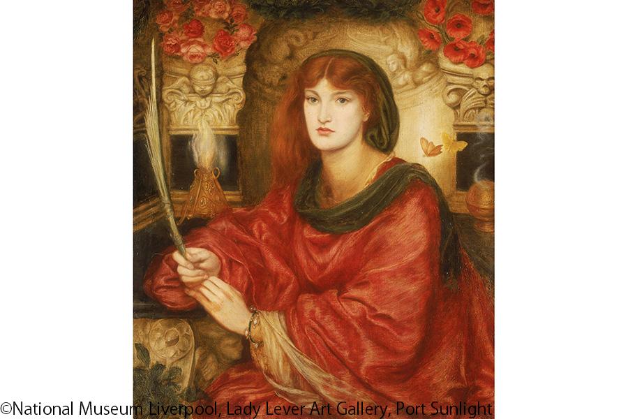ダンテ・ゲイブリエル・ロセッティ《シビュラ・パルミフェラ》1885-70年 リヴァプール国立美術館、レディ・リーヴァー・アート・ギャラリー