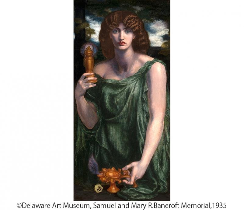 ダンテ・ゲイブリエル・ロセッティ《ムネーモシューネー(記憶の女神)》1876-81年 デラウェア美術館