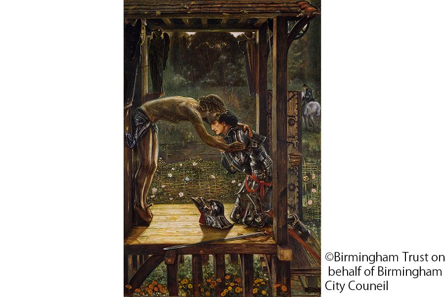 エドワード・バーン=ジョーンズ《慈悲深き騎士》1863年 バーミンガム市美術館
