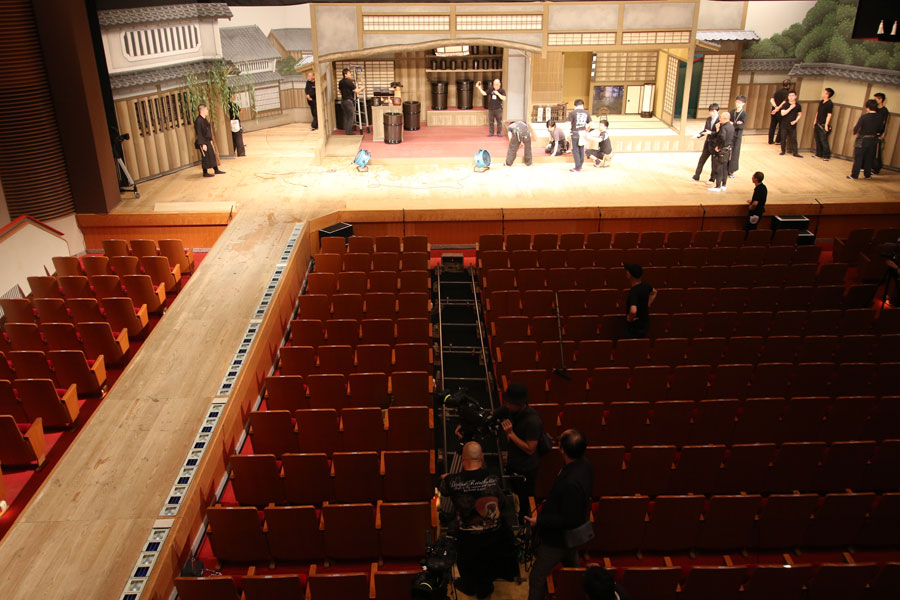 シネマ歌舞伎『女殺油地獄』の撮影風景 提供:松竹