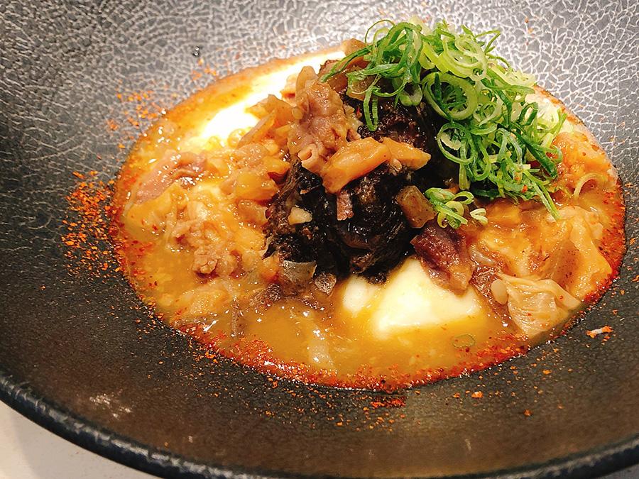 牛ほほ肉の煮込みが「牛ほほ肉のどて焼き」にチェンジ