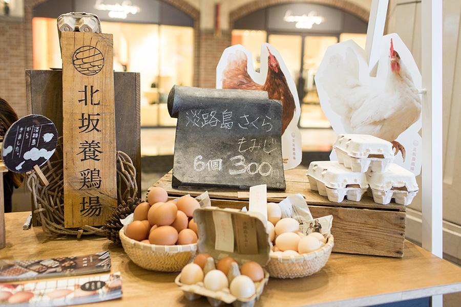 淡路島の北坂養鶏場からは、新鮮な卵が(写真は過去の開催時)