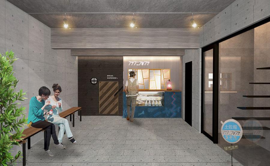1階はテイクアウト、2階はカフェスペースに