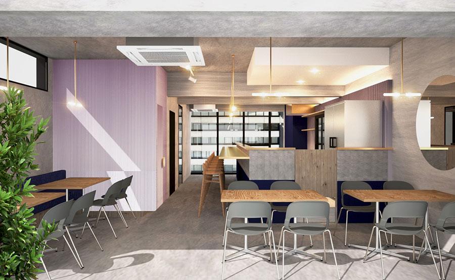 東京の店舗にはないカフェスペースが関西に登場。「フツウニフルウツ」としては3号店になる